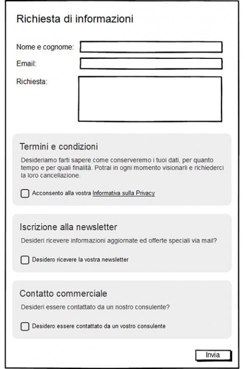 adeguamento gdpr sito web tipologia consenso