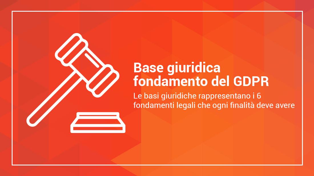 base giuridica gdpr
