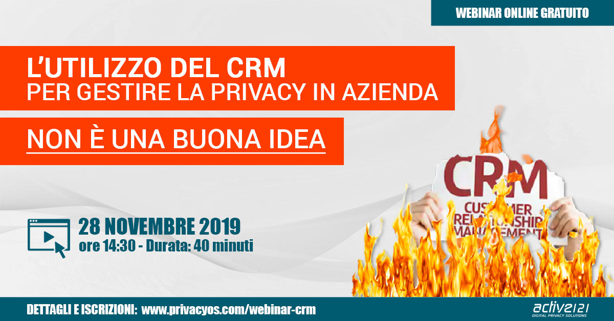 L'utilizzo del CRM per gestire la privacy in azienda non è una buona idea