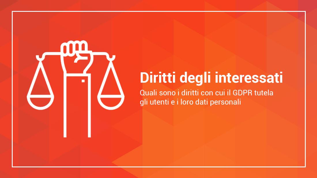 diritti degli interessati gdpr