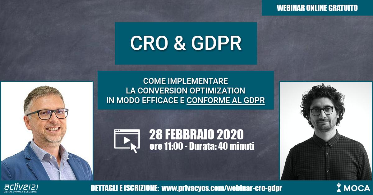 CRO & GDPR: Come migliorare le performance del sito web con la Conversion Optimization in modo conforme al GDPR