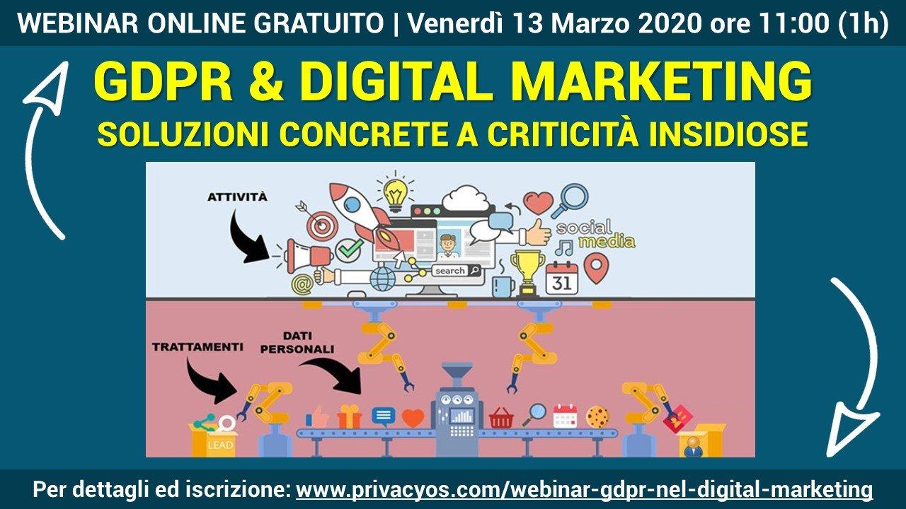 Il GDPR nel digital marketing: Soluzioni alle criticità introdotto dal GDPR nel Digital Marketing