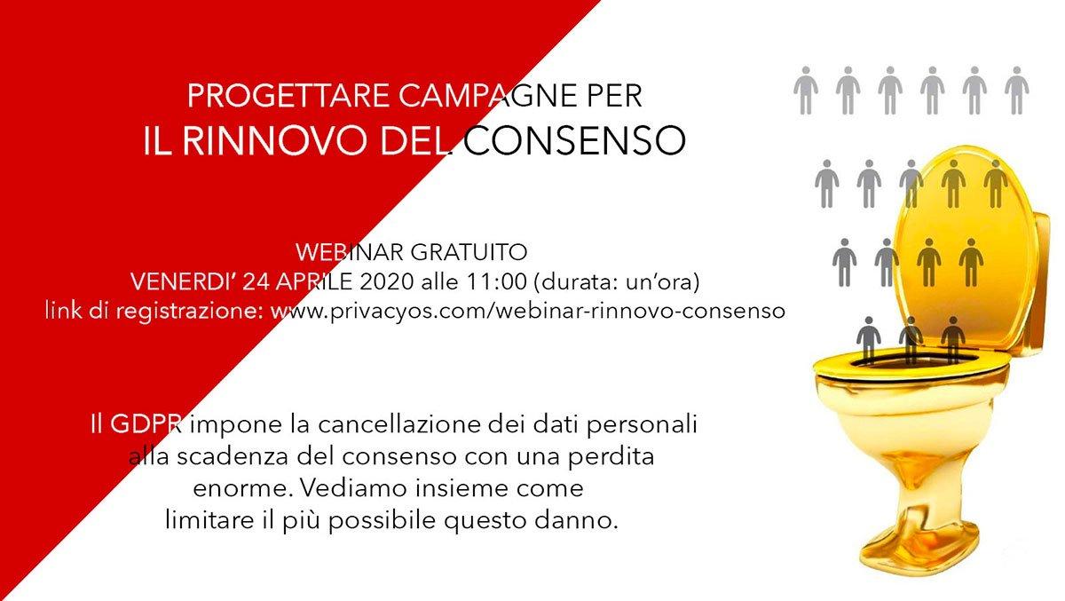 Progettare campagne per il rinnovo del consenso